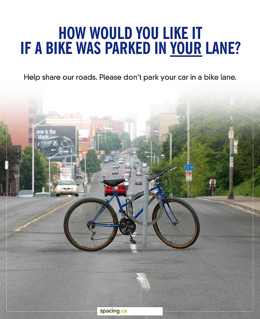 Bike Lane Frustration via Spacing.ca