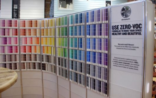 Paint swatches and VOC