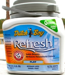 """Sherwin-Williams: their Dutch Boy Refresh paint claimed to be """"zero-VOC"""" – but most colors actually contained dangerous VOCs."""